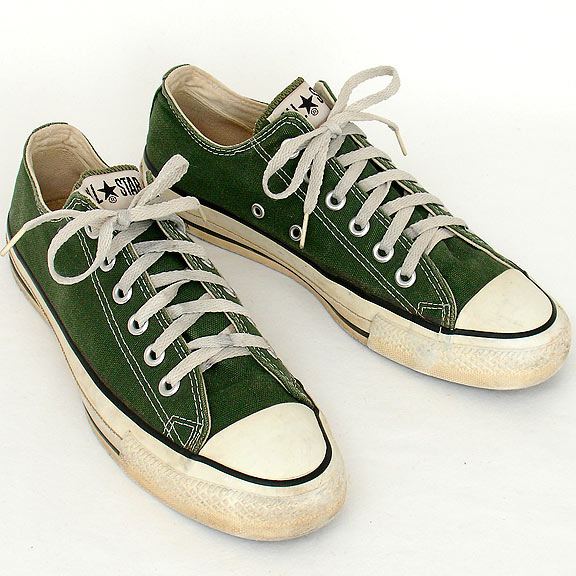82fe24d6610 Vintage American-made Converse All Star Chuck Taylor forest green shoes for  sale at http