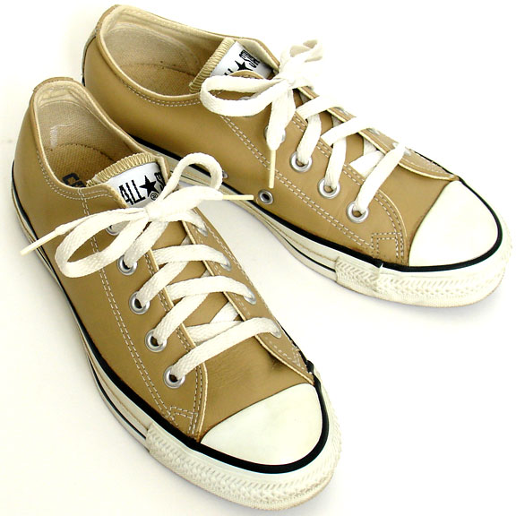 Vintage American-made Converse All Star Chuck Taylor tan leather shoes for  sale at http 36c6f6828
