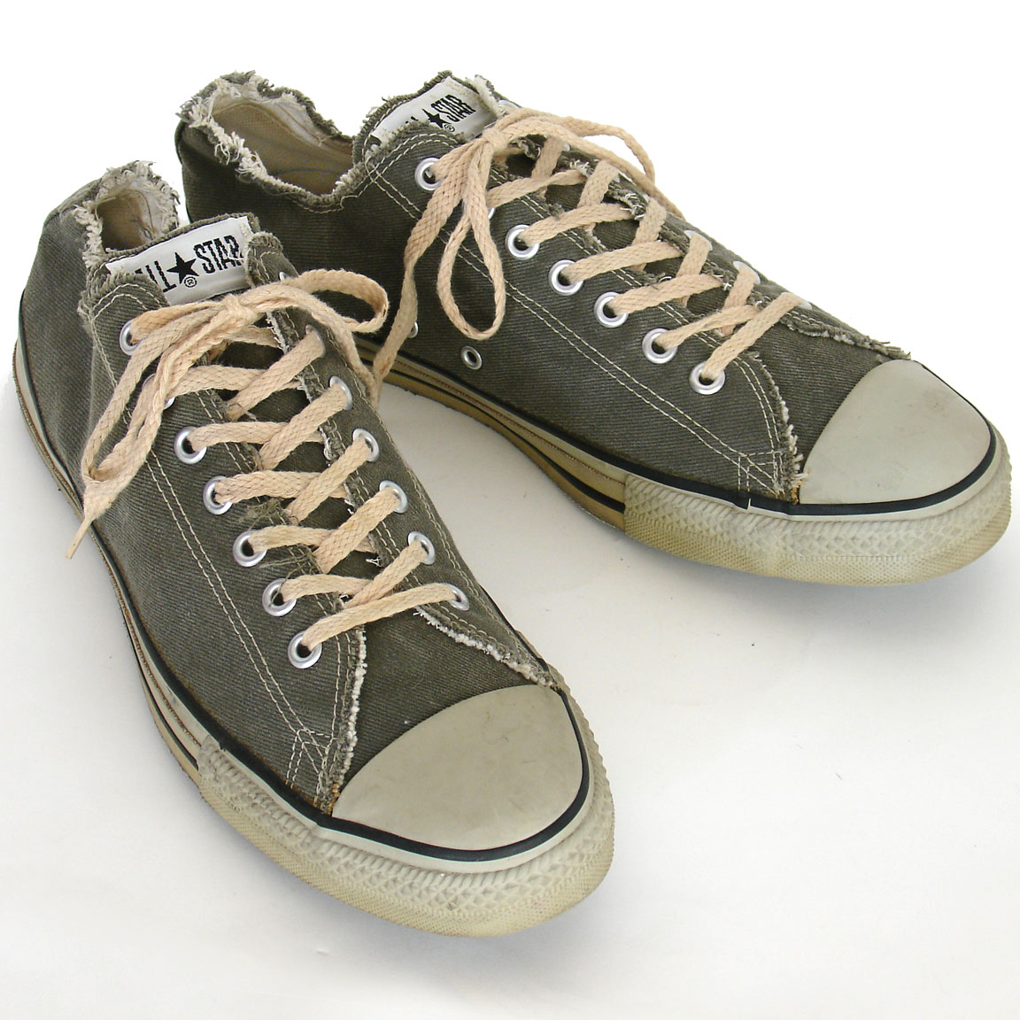 f6ceb52ee3dd11 Vintage American-made Converse All Star Chuck Taylor frayed gray shoes for  sale at http