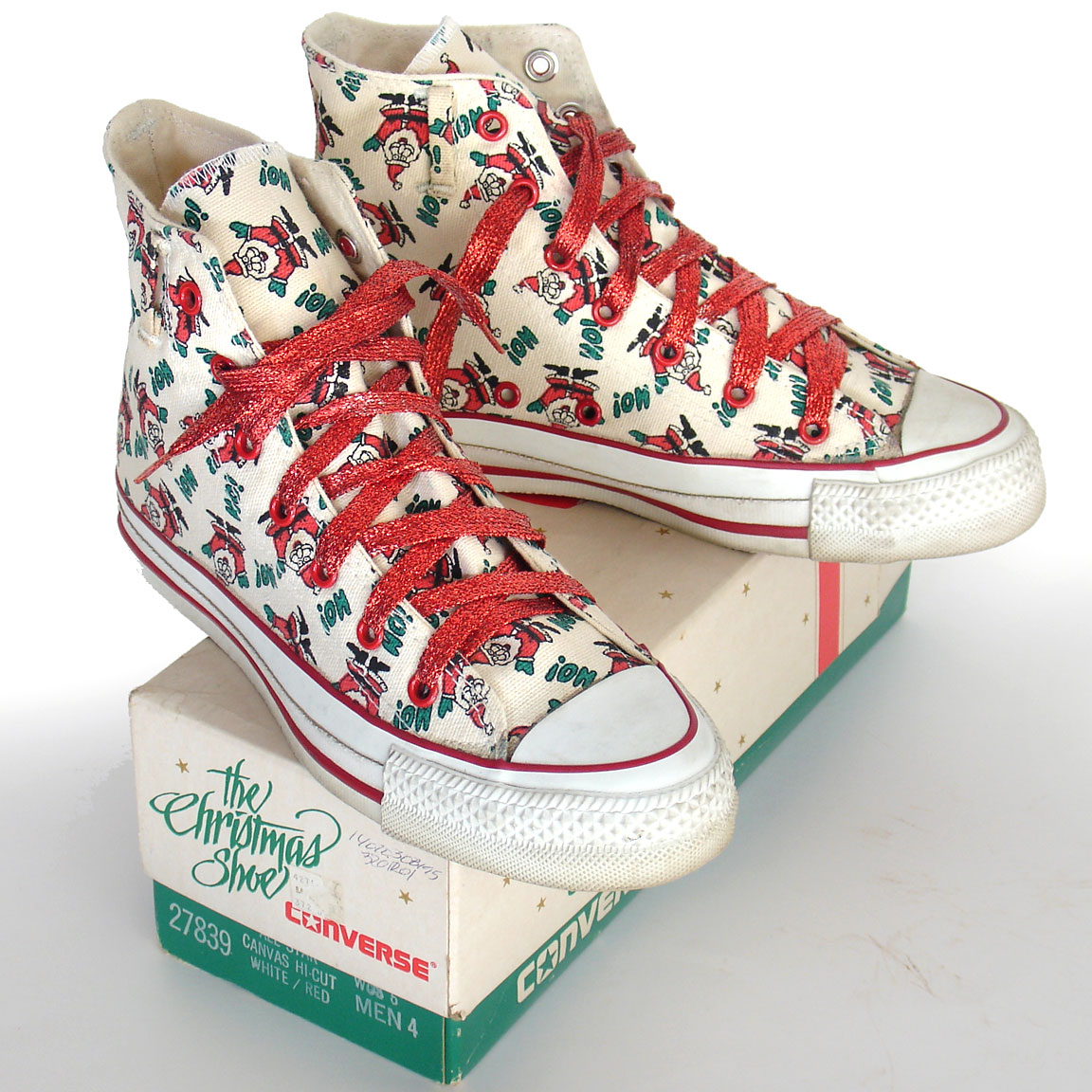 2e7241c9834 Vintage American-made Converse All Star Chuck Taylor Christmas shoes for  sale at http