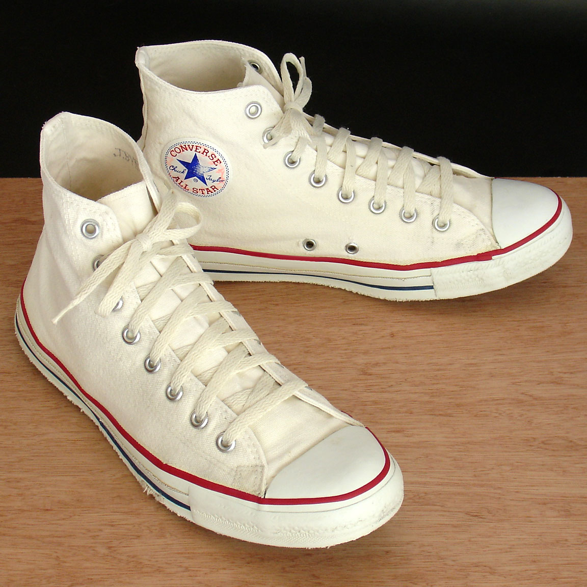 739c943ec2 Vintage American-made Converse All Star Chuck Taylor white shoes for sale  at http