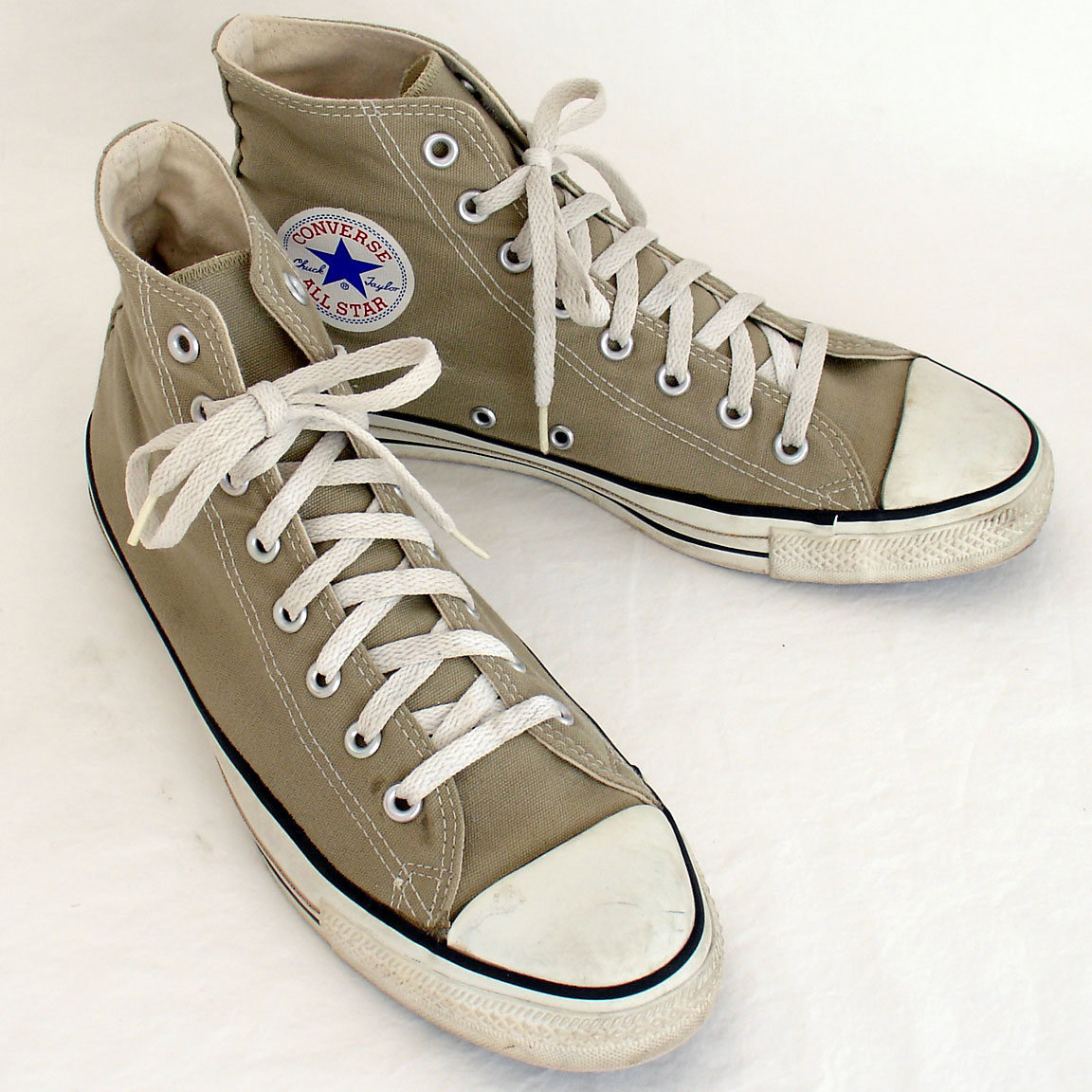 6d1d3caa849 Vintage American-made Converse All Star Chuck Taylor khaki shoes for sale  at http