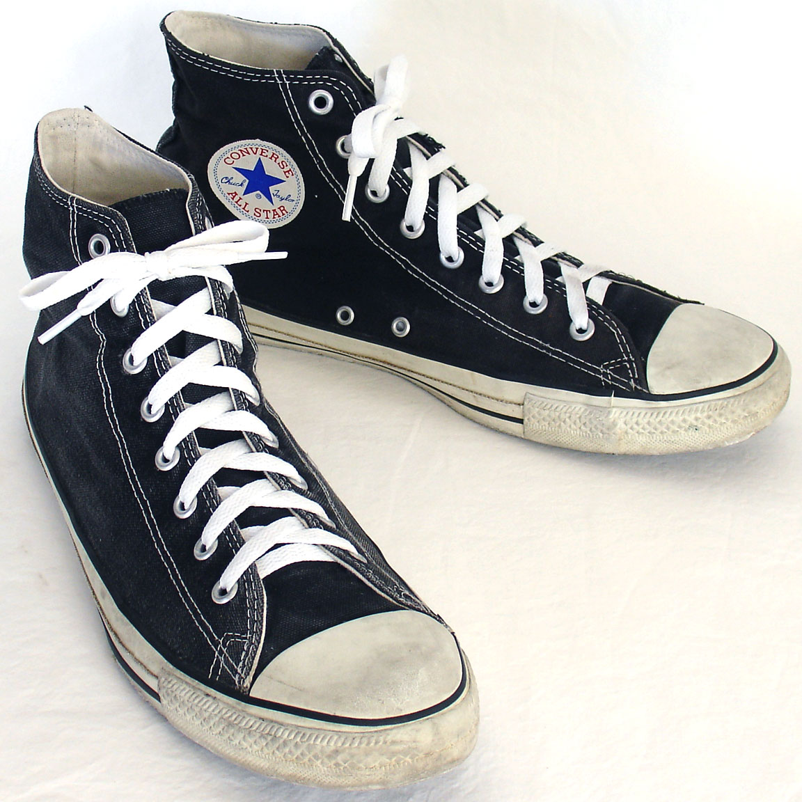 d5686753fc50 Vintage American-made Converse All Star Chuck Taylor black hi-top shoes for  sale