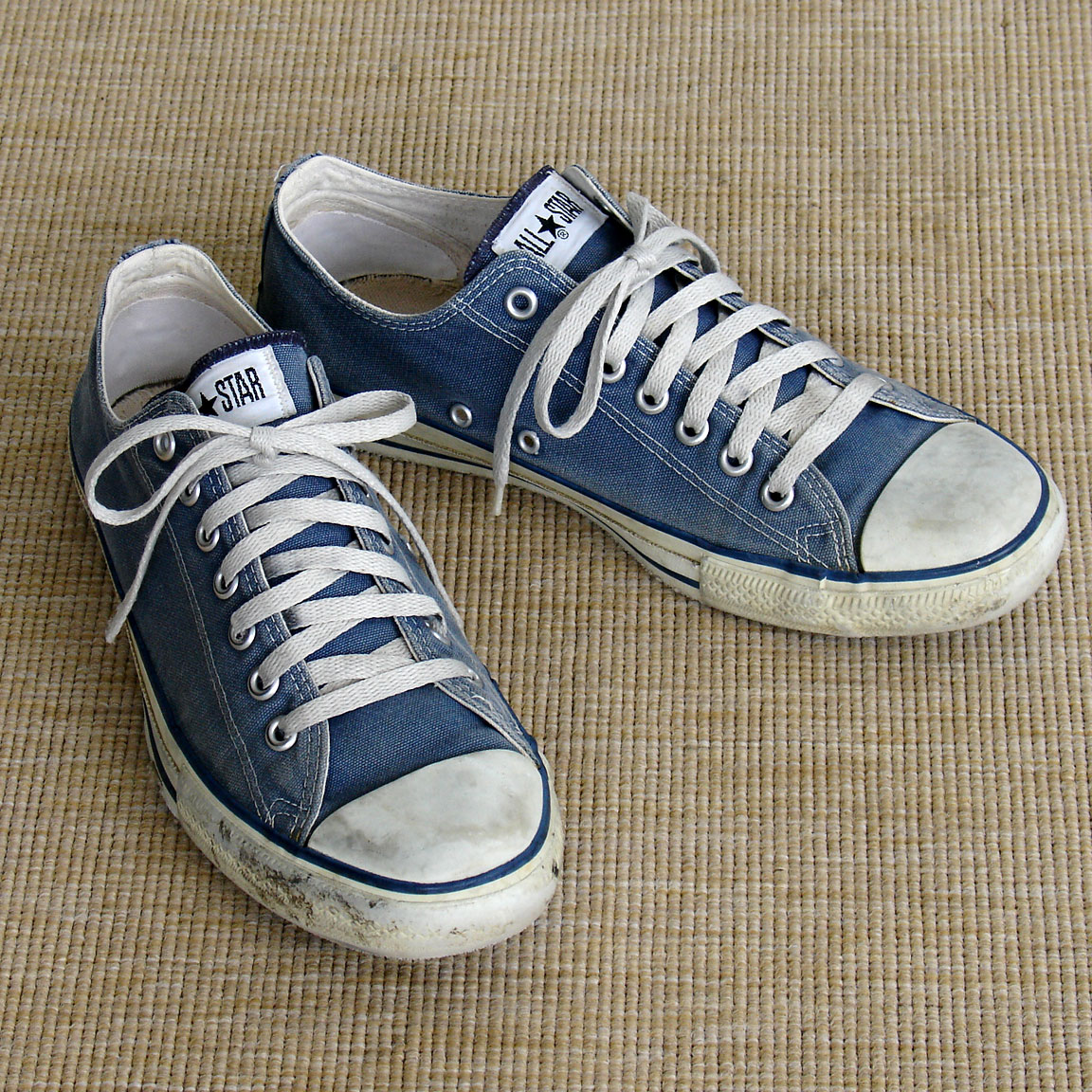 591d7ae430 Vintage American-made classic blue Converse All Star Chuck Taylor shoes for  sale at http