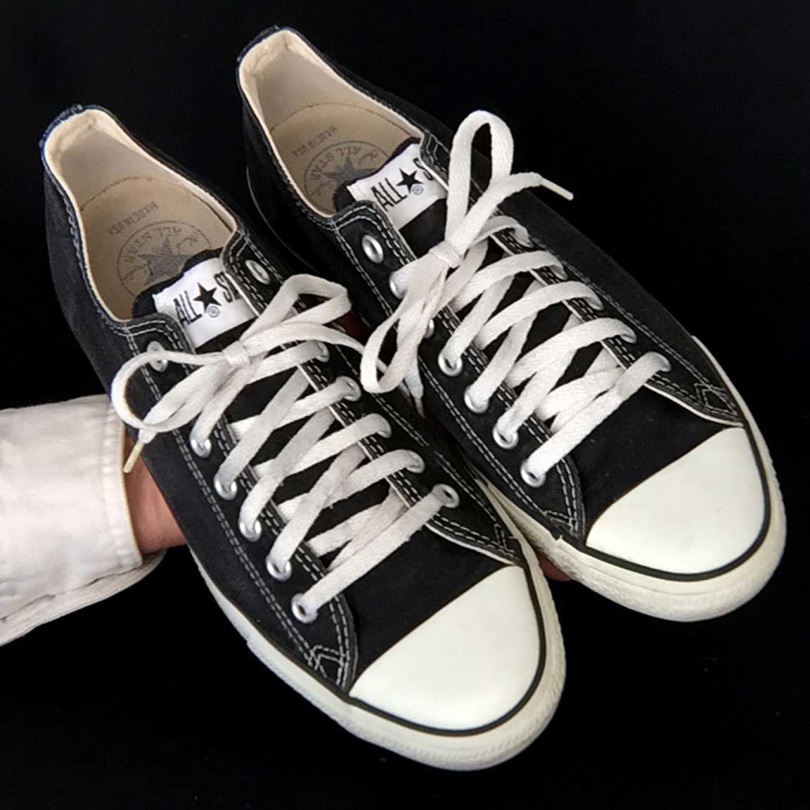 a4cb273b48a Vintage American-made Converse All Star black lo-top shoes for sale at http