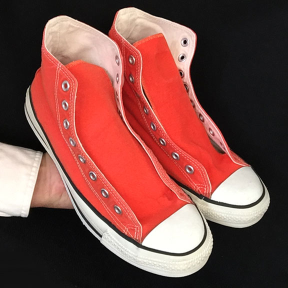 65f86ff1afd9 Vintage American-made Converse All Star Chuck Taylor orange hi-top shoes  for sale