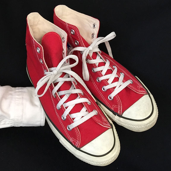 baa041cc7b Vintage red American-made Converse All Star Chuck Taylor shoes for sale at  http