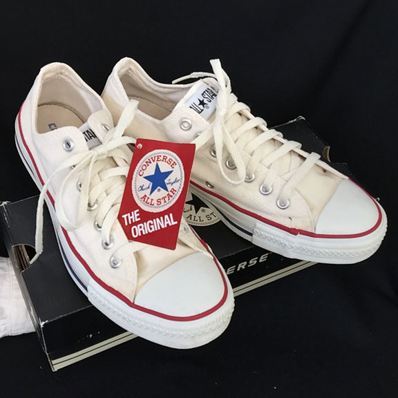 930f404645d Vintage white American-made Converse All Star Chuck Taylor shoes for sale  at http: