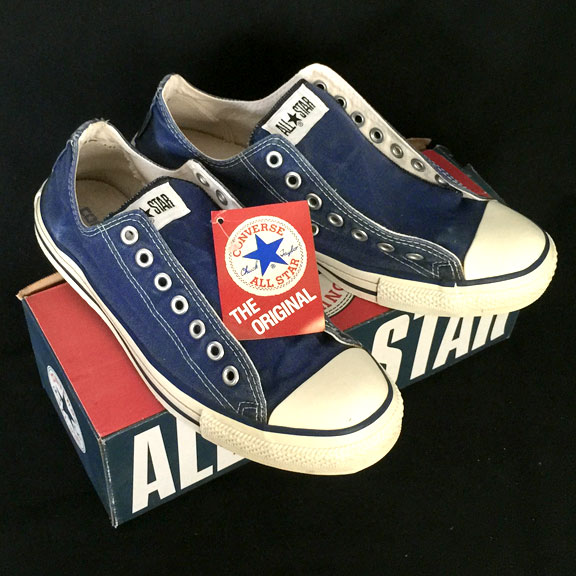 68cc3a4989ab56 Vintage American-made Converse All Star Chuck Taylor blue shoes for sale at  http