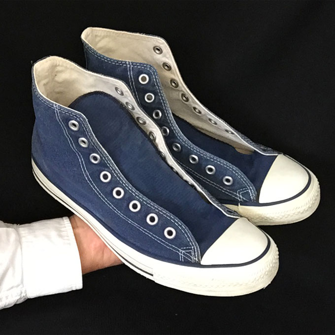 16b7279e3e59 Vintage American-made Converse All Star Chuck Taylor blue hi-top shoes for  sale