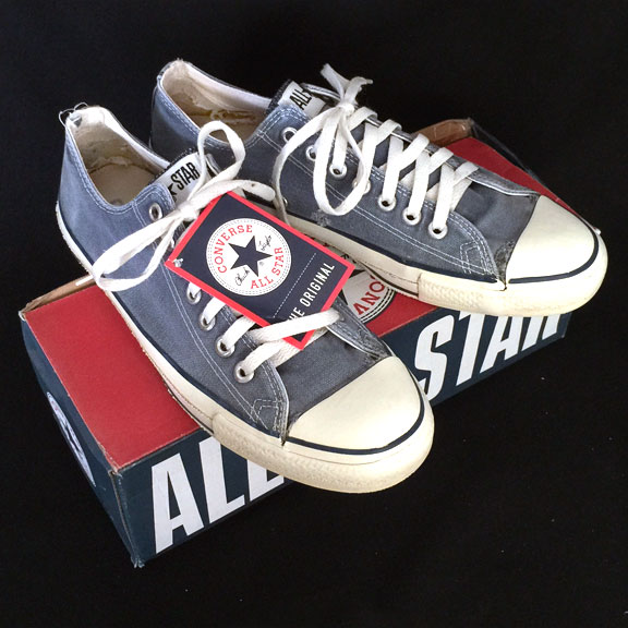 f88525ff2bf Vintage American-made Converse All Star Chuck Taylor blue shoes for sale at  http