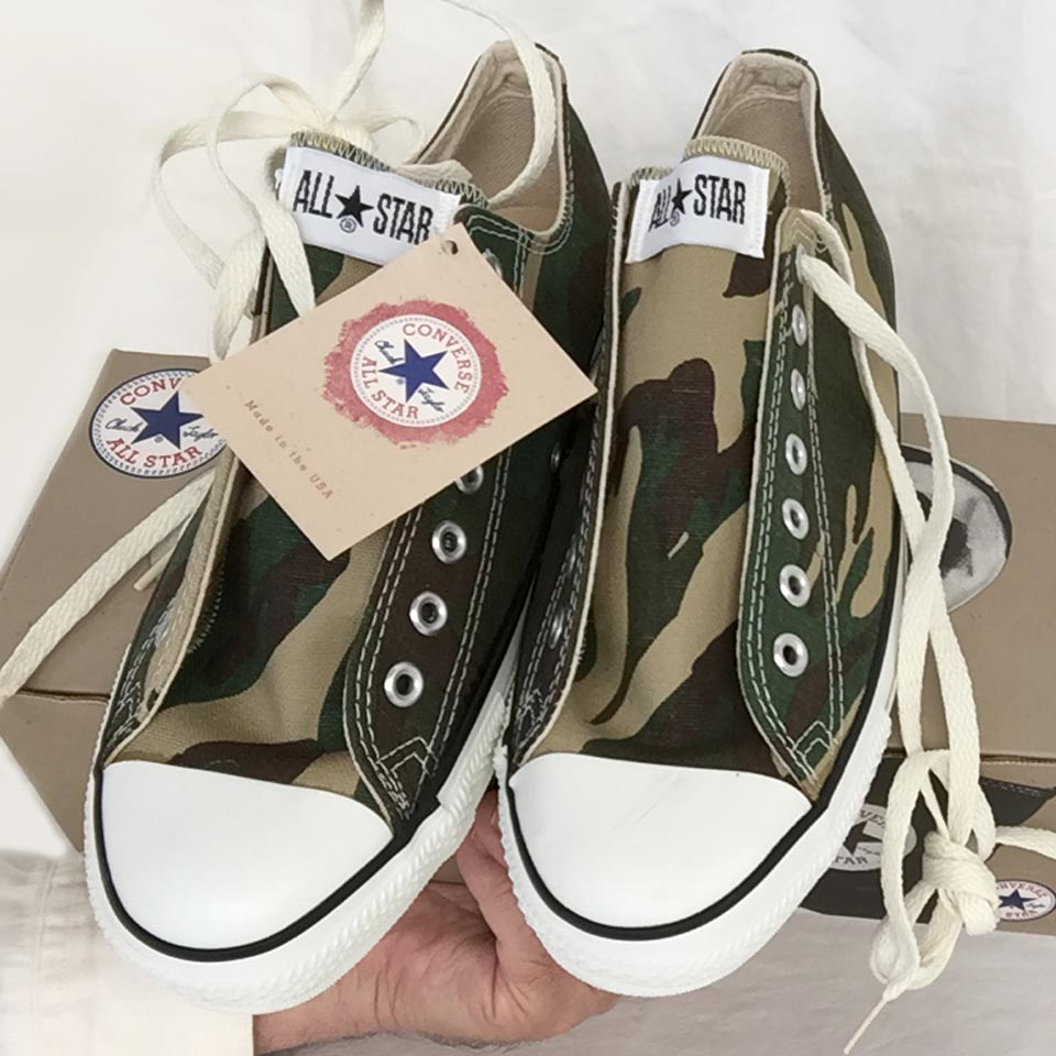 82f0cb69e1b219 Vintage American-made Converse All Star Chuck Taylor camouflage shoes for  sale at http