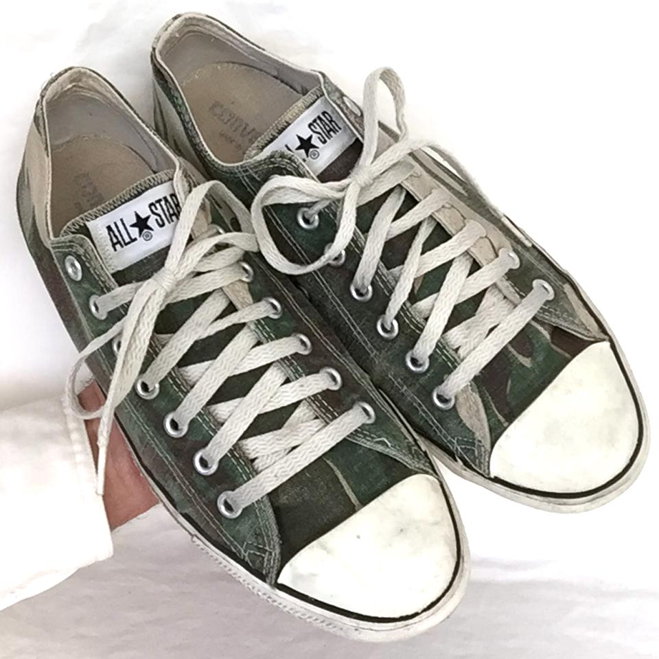 3f16a8da1a54 Vintage American-made Converse All Star Chuck Taylor camoufalge shoes for  sale at http