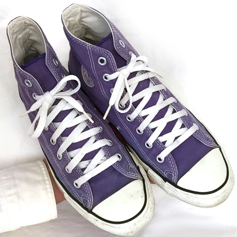 03de72de4f4a Vintage American-made Converse All Star Chuck Taylor purple shoes for sale  at http