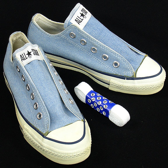 dd06e750be4c Vintage American-made Converse All Star Chuck Taylor blue shoes for sale at  http