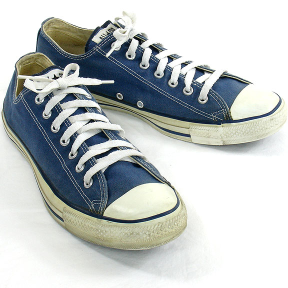 29d4fd40fc79 Vintage American-made Converse All Star Chuck Taylor navy blue shoes for  sale at http